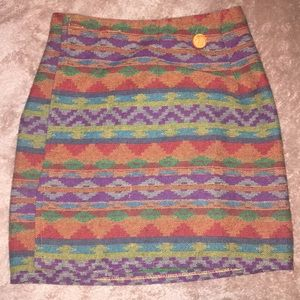 Aztec Early 2000s THE LIMITED M WRAP skirt